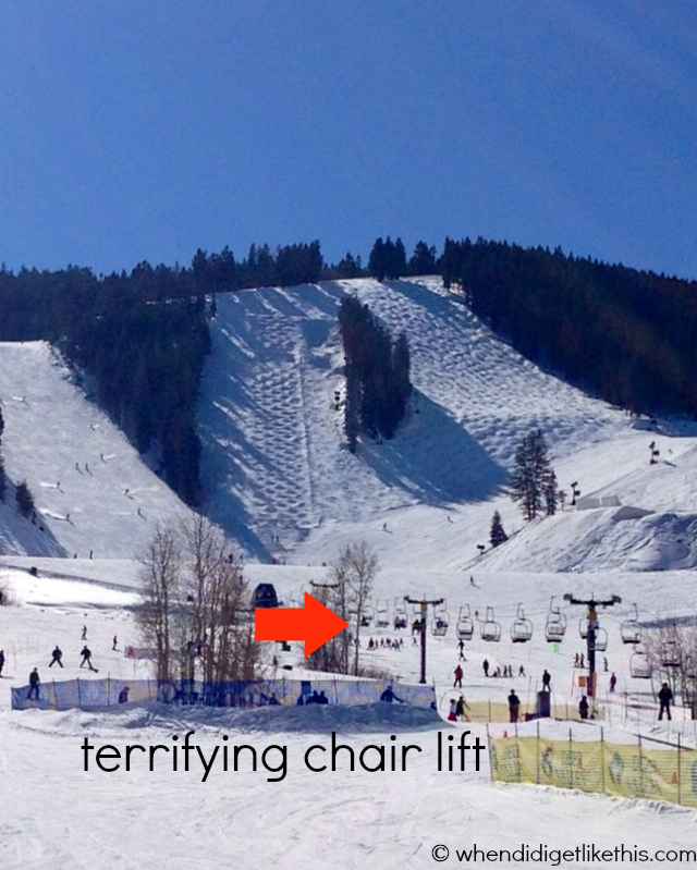 terrifying chair lift